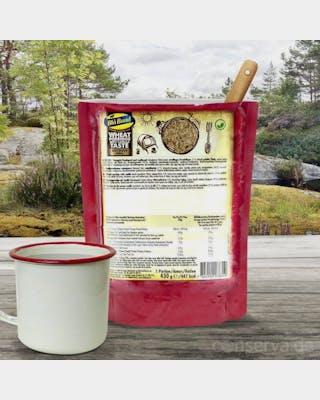 Ready to eat Wheat porridge with vanilla taste