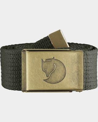Canvas Brass Belt 4 cm