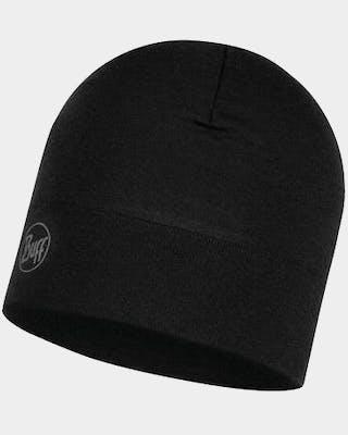 Midweight Merino Hat Solid Black