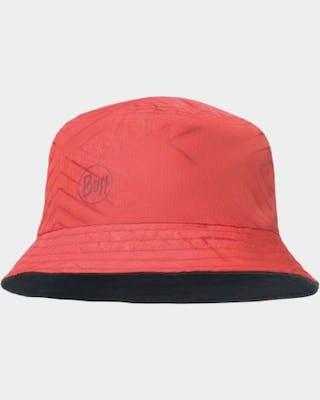 Travel Bucket Hat Red-Black