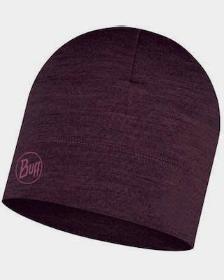 Merino Midweight Hat Deep Purple Solid