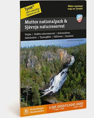 Muttos Nationalpark & Sjávnja Naturreservat Fjällkarta Tyvek