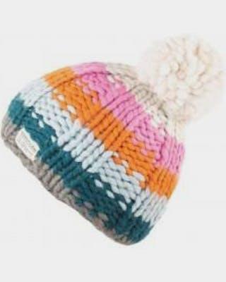 Kusan grey rainbow bobble hat 1934