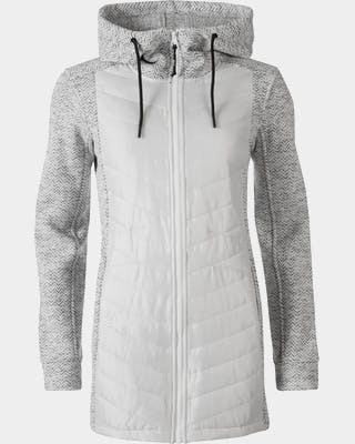 Luoto W Long Hybrid Layer Zip Hoodie