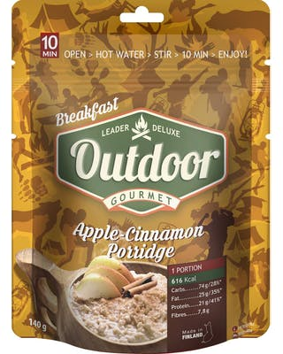 Outdoor Apple cinnamon oatmeal