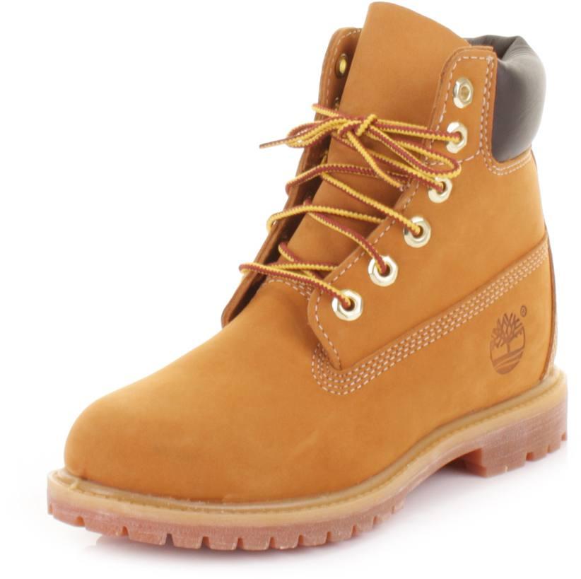 Women/'s Timberland 10361 6-Inch Premium Waterproof Boots Wheat Nubuck